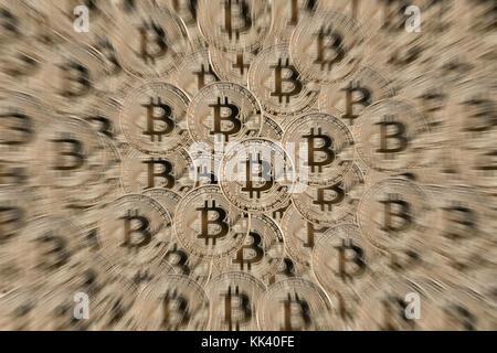 Bitcoin symbolphoto - Stock Photo