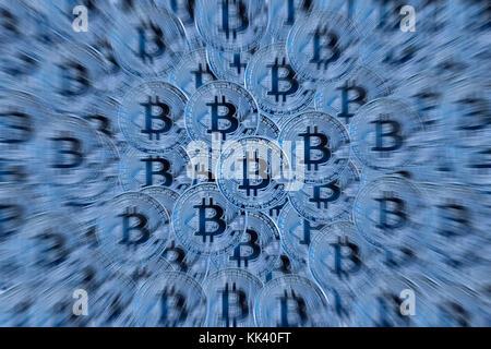 Bitcoin background - Stock Photo