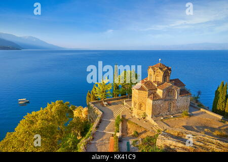 Church of St. John at Kaneo, Ohrid, Macedonia, UNESCO - Stock Photo