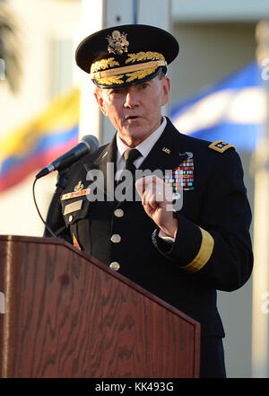 MIAMI, FL - NOVEMBER 19: General Martin E. Dempsey Chairman, Joint Chiefs of Staff attends the Change of Command - Stock Photo