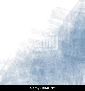 blue watercolor background pattern with visible brush strokes on white background, vector illustration - Stock Photo