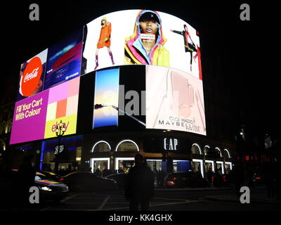 Black Friday at Piccadilly 'The Curve' is a new hi tech  installation showing images in HD November 2017 - Stock Photo