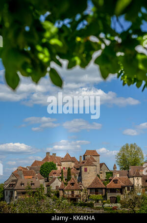 Loubressac most pictorial villages of france lot region - Stock Photo