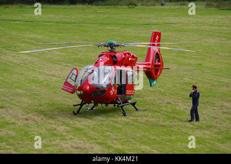 Wales Air Ambulance - Stock Photo