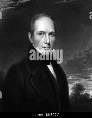 Portrait of American statesman Henry Clay, 1839. From the New York Public Library. - Stock Photo