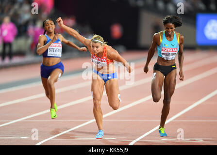 Dafne Schippers - 200m women Gold Medal - IAAF World Championships London 2017 - Stock Photo