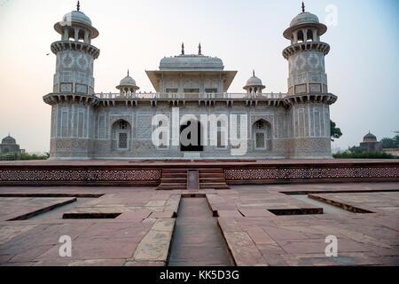 Itimad-ud-Daulah or Baby Taj in Agra, India - Stock Photo