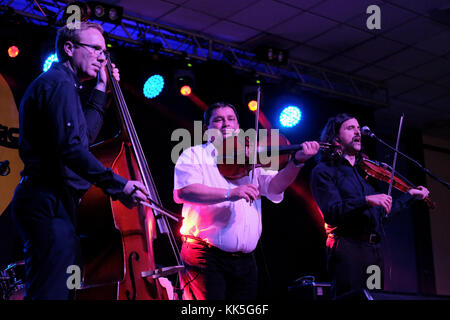 The Tcha Limberger Kalotaszeg Trio performing at the Musicport music festival, Whitby, North Yorkshire, UK, October - Stock Photo