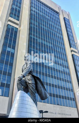 Adam Clayton Powell, Jr. statue in New York. Adam Clayton Powell, Jr. was an American politician and pastor who - Stock Photo
