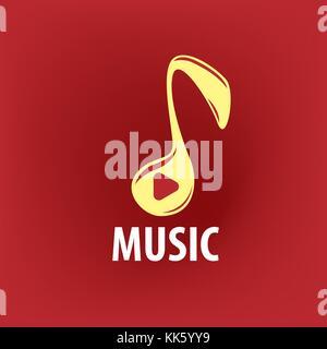 vector logo music - Stock Photo