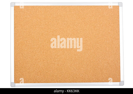 blank office corkboard isolated on white background. - Stock Photo