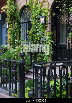 A brownstone in NYC. - Stock Photo