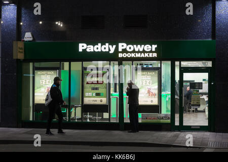 Paddy Power bookmaker shop, Birmingham city centre UK - Stock Photo