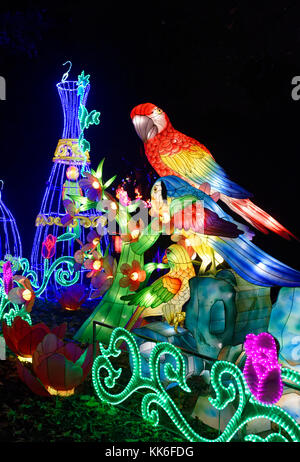 display at the The Magical Lantern Festival at Chiswick House, London - Stock Photo
