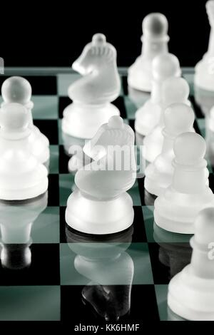 chess knights and pawns - Stock Photo
