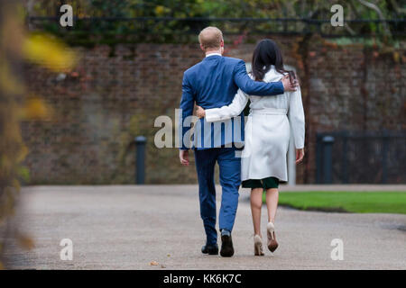 HRH Prince Harry and Ms Meghan Markle announce their engagement, 27th November 2017 - Stock Photo