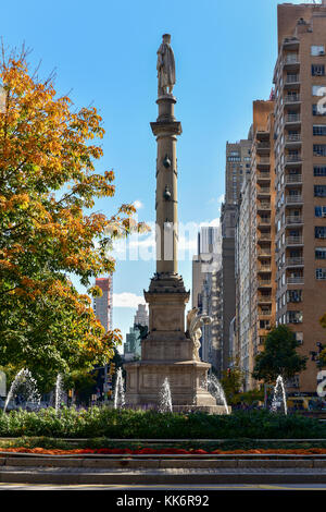 Columbus Circle in Manhattan which was completed in 1905 and renovated a century later. - Stock Photo