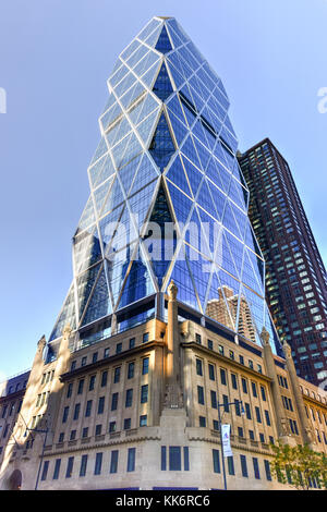 New York City - November 6, 2016: Hearst Tower, the headquarters of the Hearst Corporation in New York City. - Stock Photo
