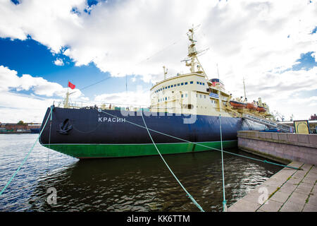 Icebreaker Krasin St. Petersburg on the Neva River, now it is a Museum. 24.09.2016  Russia - Stock Photo