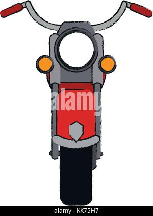 vintage motorcycle frontview icon image - Stock Photo