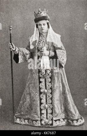 Irina Feodorovna Godunova, later Alexandra, 1557–1603.  Tsaritsa of Russia by marriage to Tsar Feodor I Ivanovich - Stock Photo