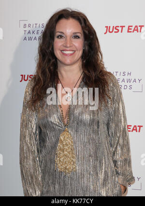 London, UK. 27th November, 2017. Sarah Willingham attends the British Takeaways Awards in the Savoy Hotel in London - Stock Photo