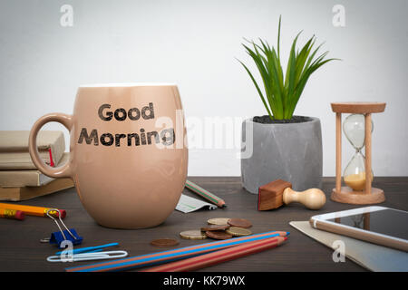 Good Morning. Business and a success background - Stock Photo