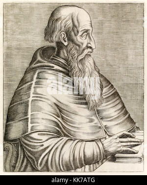 Pietro Bembo (1470-1547) Venetian and Italian scholar and poet whose most influential work was 'Prose della volgar - Stock Photo