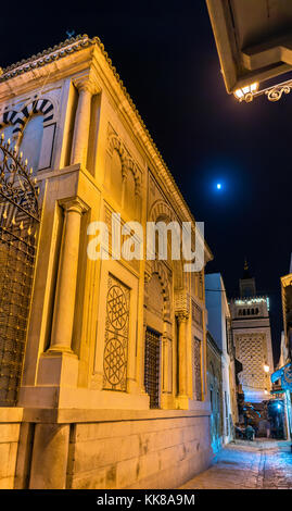 Hammouda Pacha Mosque in Medina of Tunis, Tunisia - Stock Photo