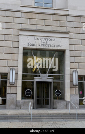 Entrance to the US Customs and Border Protection (CBP), part of the Ronald Reagan Building, Washington DC, United - Stock Photo