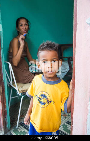 Cuban boy in Havana, Cuba - Stock Photo