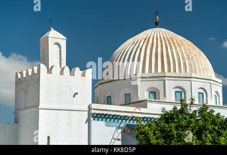White Mosque in Medina of Kairouan. A UNESCO world heritage site in Tunisia - Stock Photo