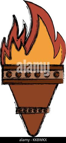 torch  vector illustration - Stock Photo