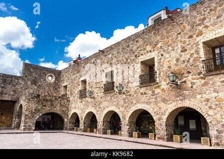 Front view of a Plaza De Aranzazu. San Luis Potosi, Mexico - Stock Photo