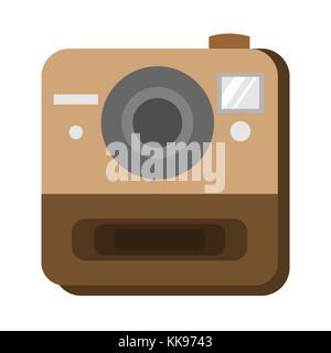 Instant Photo Camera Vector Graphic Illustration Design - Stock Photo