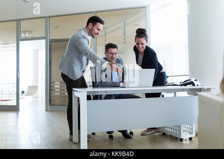 Picture of sales agents working together in office - Stock Photo