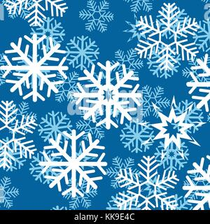 Background from snowflake - Stock Photo