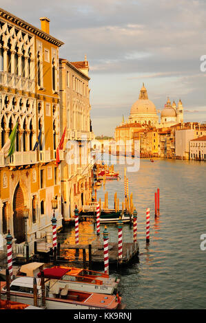 View of Grand Canal from Academia Bridge, Venice - Stock Photo
