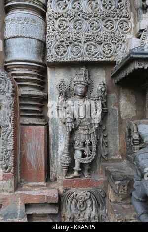 Chenna Keshava Vishnu Tempel - Belour south india - Stock Photo