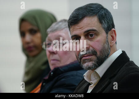 London, England, UK. 29th Nov, 2017. Mohammed Kozbar attend the debate 'Confronting anti-muslim hate crimes in Britain' - Stock Photo