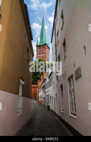 St. Peter's Church in Lubeck - Germany - Stock Photo