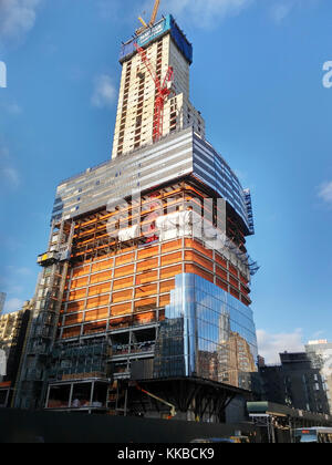 Brookfield's Manhattan West development in New York on Tuesday, November 28, 2017. Navillus, the site contractor, - Stock Photo