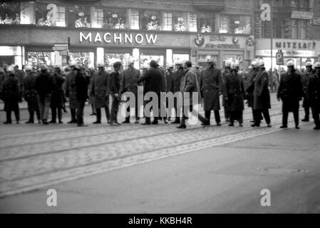 Philippe Gras / Le Pictorium -  Gathering in Berlin in 1968 -  1968  -  Germany / Berlin  -  The German demonstrations - Stock Photo