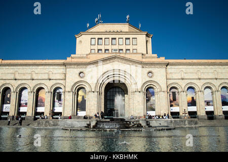 Yerevan, Armenia - October 8, 2017: The Building of the National Gallery and Museum of History of Armenia on the - Stock Photo