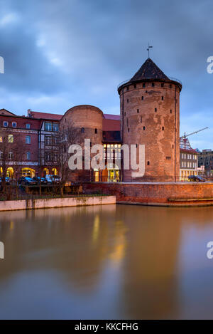 Milk Churn Gate (Stagiewna Gate) on the Island of Granaries. Old Town of Gdansk, Poland. - Stock Photo
