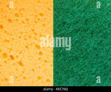 Yellow and green sponge texture for background. - Stock Photo