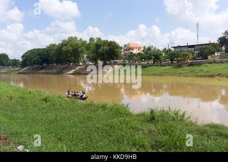Stung Sangke River in Battambang city - Stock Photo