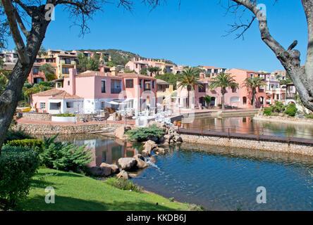 Villaggio Bagaglino suburb, Liscia di Vacca, Smeralda Coast, Sardinia, Italy - Stock Photo