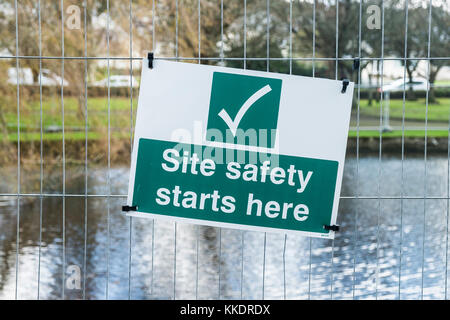 A construction site safety notice. - Stock Photo
