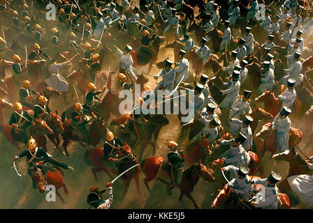 THE CHARGE OF THE LIGHT BRIGADE 1968 United Artists . British (at left) and Russian cavalry clash. - Stock Photo
